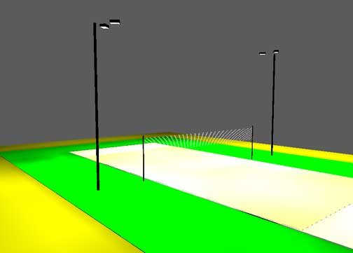 Backyard Volleyball Court Dimensions outdoor volleyball court lighting package 1