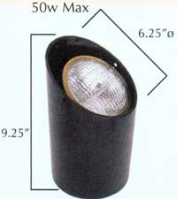 Low voltage up light designed for grade level applications.