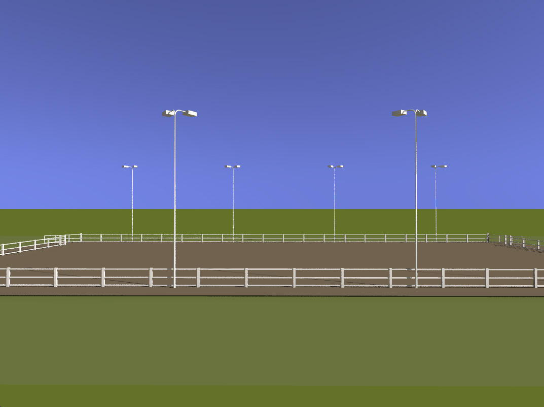 Custom horse arena lighting package for Outdoor lighting packages