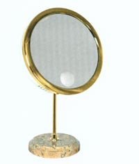 Table top makeup mirror from Residential Landscape Lighting & Design.