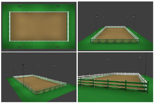 Horse Arena Lighting Package 100x200 For Wooden Poles