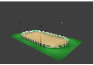 Horse Arena Lighting Package 50x100 Oval On Steel Poles