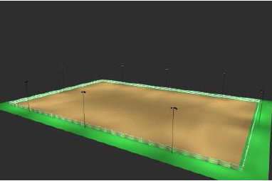Horse arena lighting package 250x350 for wooden poles for Landscape lighting packages