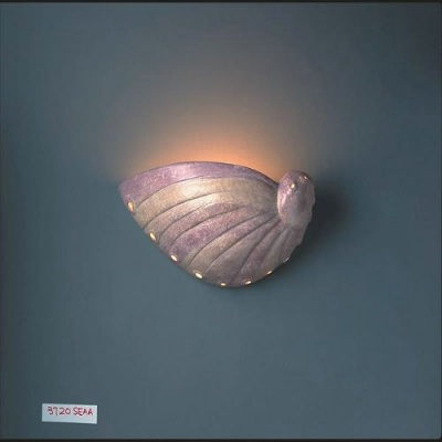 Tropical Indoor Wall Sconces : Lighting Wall Sconces - Abalone Shell Sconce by Justice Design