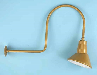 Gooseneck sign light with angle reflector for Commercial exterior gooseneck light fixtures