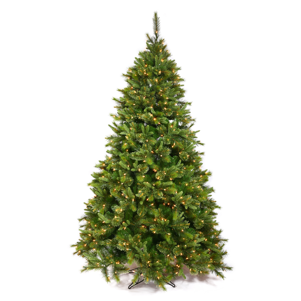 Small artificial christmas trees with led lights - 15 X 106 Cashmere Pine Dura Lit 3850 Clear Bulbs