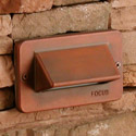 Focus Industries - Cast Aluminum Single Louver Low Voltage Step Light Available w/ LED Lamp